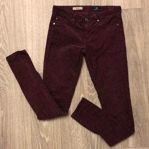 AG 'The Legging' super skinny cord jeans